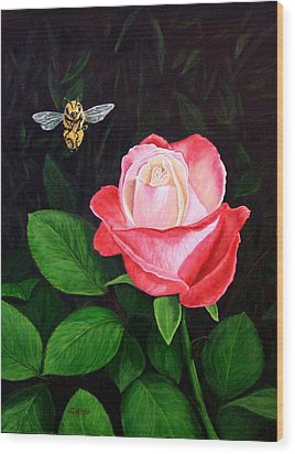 Leave My Rose Alone Wood Print by Jim Ziemer