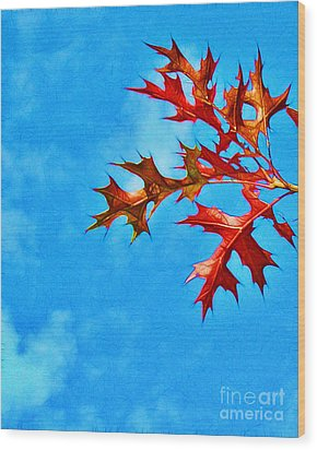 Leaves Against The Sky Wood Print by Judi Bagwell