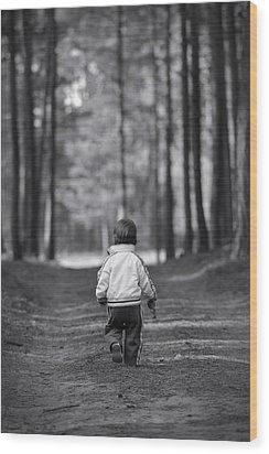 Leaving Wood Print by Waldek Dabrowski