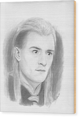 Legolas Wood Print by Amy Jones