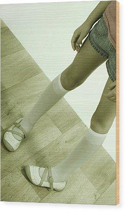 Legs Of A Girl Wood Print by Joana Kruse