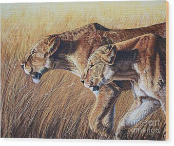 Let The Hunt Begin Wood Print by Deb LaFogg-Docherty