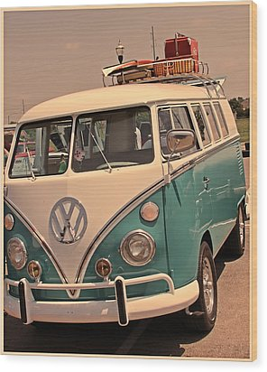 Let's Go Surf'in Wood Print by Tony Grider