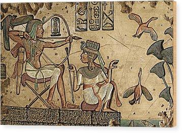 Life On The Nile II Wood Print by Greg Coffelt