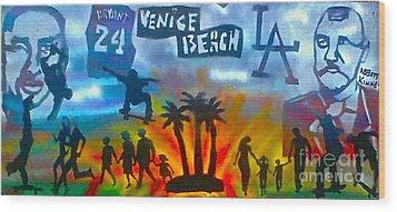 Life's A Beach Wood Print by Tony B Conscious