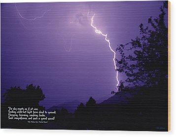 Lightning Over The Rogue Valley Wood Print by Mick Anderson