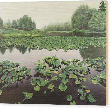 Lilly Pond Dreams Wood Print by Lorna Saiki