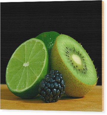 Lime It Up Wood Print by Davor Sintic