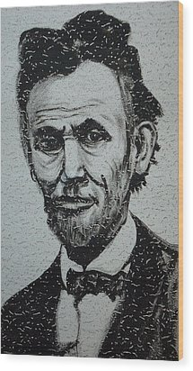 Lincoln Wood Print by Pete Maier