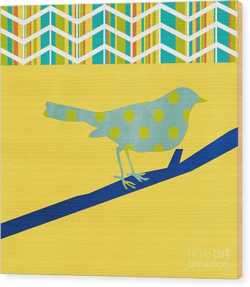 Little Song Bird Wood Print by Linda Woods