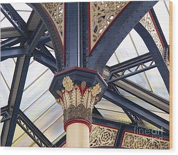 Liverpool Street Skylight Wood Print by Ann Horn