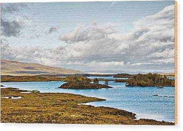 Loch Ba View Wood Print by Chris Thaxter
