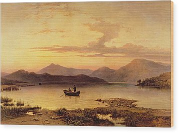 Loch Etive From Bonawe In The Evening Wood Print by George Edwards Hering