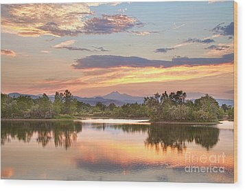 Longs Peak Evening Sunset View Wood Print by James BO  Insogna