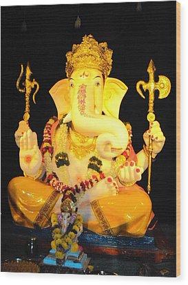 Lord Ganapati Wood Print by Pranav  Waghmare