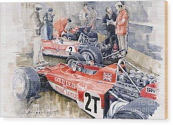 Lotus 49 B Lotus 72  Wood Print by Yuriy  Shevchuk