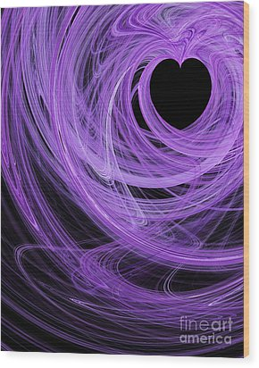 Love Swirls . A120423.689 Wood Print by Wingsdomain Art and Photography