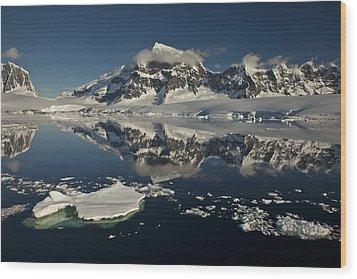 Luigi Peak Wiencke Island Antarctic Wood Print by Colin Monteath