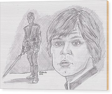 Luke Skywalker Episode Vi Wood Print by Chris  DelVecchio