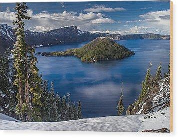 Luminous Crater Lake Wood Print by Greg Nyquist