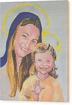Madonna And Child Wood Print by Susan  Clark