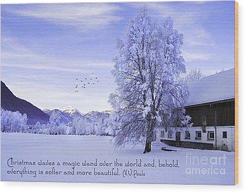 Magic Wand Wood Print by Sabine Jacobs