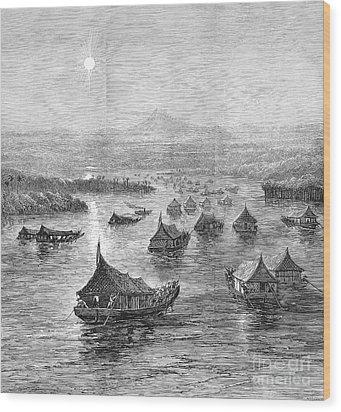 Malaya: Perak River, 1876 Wood Print by Granger