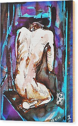 Male Nude Wood Print by Ion vincent DAnu