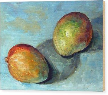 Mango's Wood Print by Mark Hartung