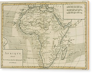 Map Of Africa Wood Print by Guillaume Raynal