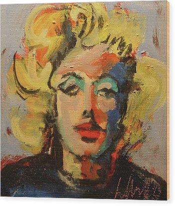Marilyn Wood Print by Les Leffingwell