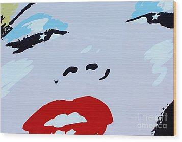 Marilyn Monroe 1 Wood Print by Micah May