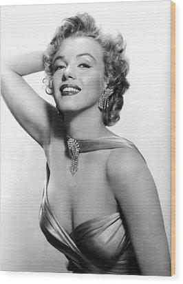 Marilyn Monroe, Circa 1950s Wood Print by Everett