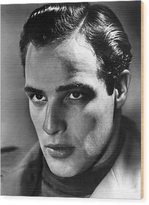 Marlon Brando, 1950s Wood Print by Everett