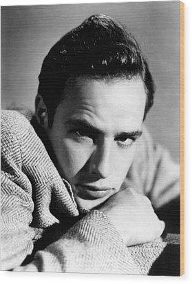 Marlon Brando, Early 1950s Wood Print by Everett