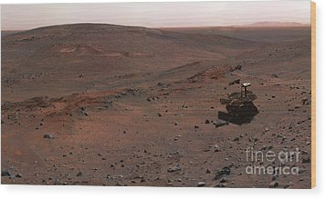Mars Exploration Rover Spirit Wood Print by Stocktrek Images