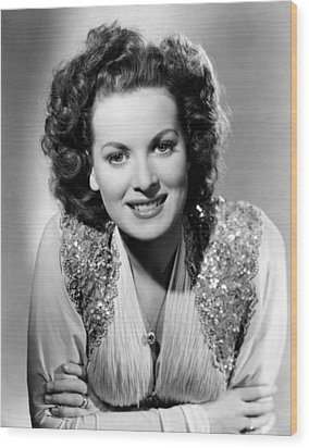 Maureen Ohara, Rko, 1940 Wood Print by Everett