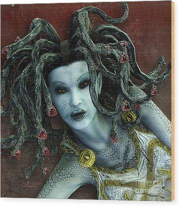 Medusa Wood Print by Jutta Maria Pusl