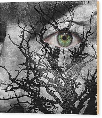 Medusa Tree Wood Print by Semmick Photo