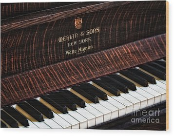 Mehlin And Sons Piano Wood Print by Susan Candelario