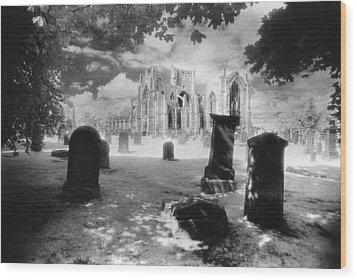 Melrose Abbey Wood Print by Simon Marsden