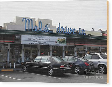 Mel's Drive-in Diner In San Francisco - 5d18012 Wood Print by Wingsdomain Art and Photography
