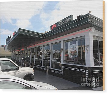Mel's Drive-in Diner In San Francisco - 5d18041 Wood Print by Wingsdomain Art and Photography