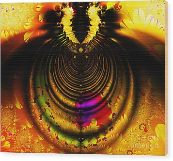 Melting Pot . Gold . Horizontal Cut . S8a.s11 Wood Print by Wingsdomain Art and Photography