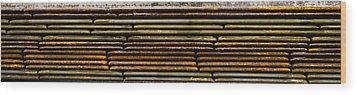 Metal Stripe  Wood Print by Jean Noren