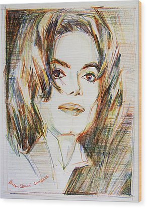 Michael Jackson - Indigo Child  Wood Print by Hitomi Osanai