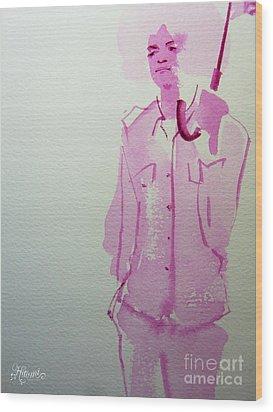 Michael Jackson - Shiny Day Wood Print by Hitomi Osanai
