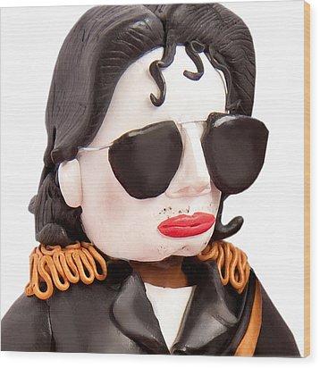 Michael Jackson Wood Print by Louisa Houchen