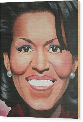 Michelle Obama Wood Print by Timothe Winstead