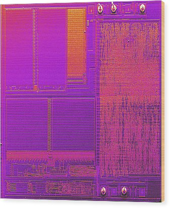 Microchip, Sem Wood Print by Power And Syred